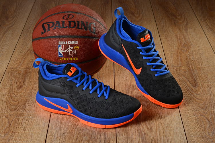 Nike LeBron Witness 2 Flyknit Black Blue Orange Shoes